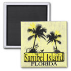 Sanibel Island Florida palm tree magnet