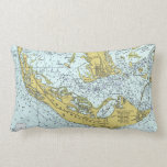 Sanibel Island Florida vintage map Pillows