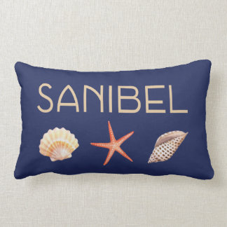 Sanibel  Island Florida with shells Lumbar Pillow