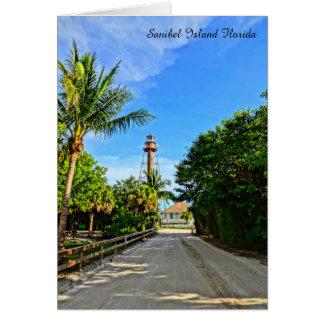 Sanibel Island Lighthouse Florida Gulf Coast Card