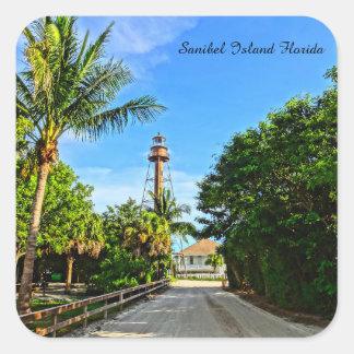 Sanibel Island Lighthouse Florida Gulf Coast Square Sticker