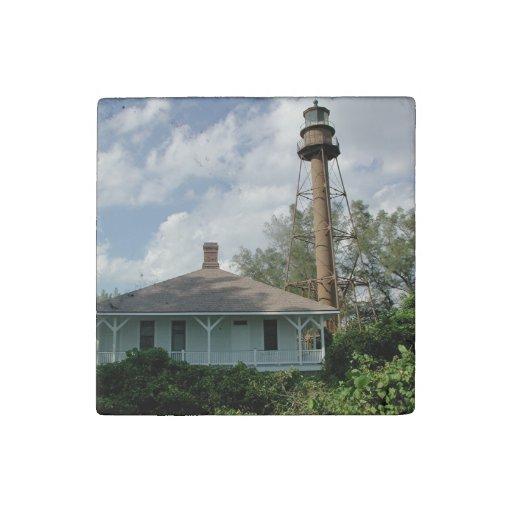 Lighthouse Natural Stone : Sanibel island lighthouse florida stone magnet zazzle