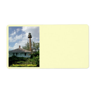 Sanibel Island Lighthouse Shipping Label