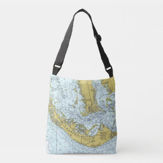 Sanibel Island nautical map Crossbody Bag