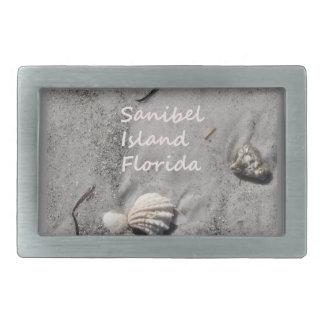 Sanibel Island Sand Shells Belt Buckle
