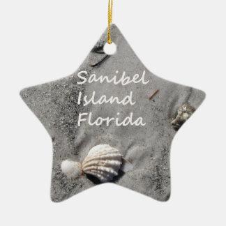Sanibel Island Sand Shells Christmas Tree Ornament