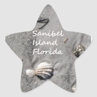 Sanibel Island Sand Shells Star Sticker