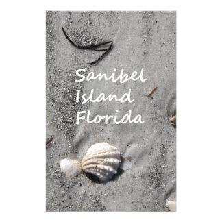 Sanibel Island Sand Shells Stationery Paper
