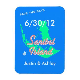 Sanibel Island save the date beach wedding Vinyl Magnets
