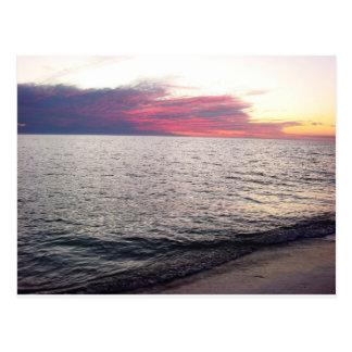 Sanibel Island Sunset Florida Beach Postcard