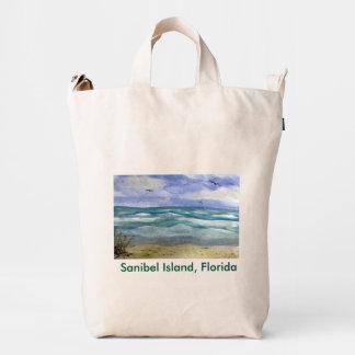Sanibel Island Watercolor Duck Bag