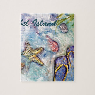 Sanibel Island Watercolor Florida Art Puzzles