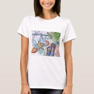 Sanibel Island Watercolor Florida Art T-Shirt