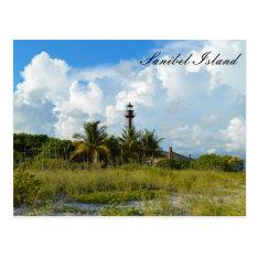 Sanibel Lighthouse Beach Postcard at Zazzle