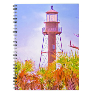 Sanibel Lighthouse collection Spiral Notebooks