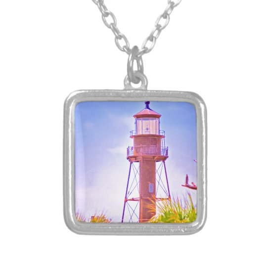 Sanibel Lighthouse collection Silver Plated Necklace