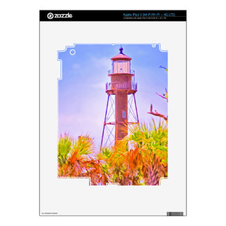 Sanibel Lighthouse collection Skins For iPad 3