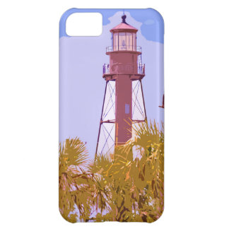 """""""Sanibel Lighthouse woodcut"""" collection iPhone 5C Cover"""