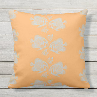 Sanibel Rows of Fish Outdoor Pillow