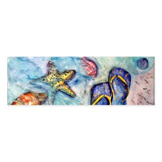 Sanibel Sandals - watercolor Business Card Template