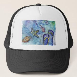 Sanibel Sandals watercolor Trucker Hat