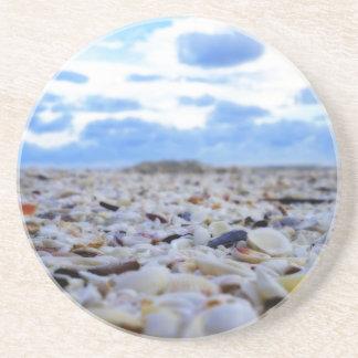 Sanibel Shells Sandstone Coaster