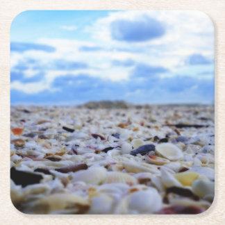 Sanibel Shells Square Paper Coaster