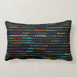 Sanibel Text Design I Lumbar Pillow