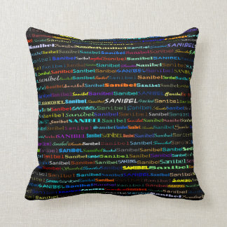 Sanibel Text Design I Throw Pillow