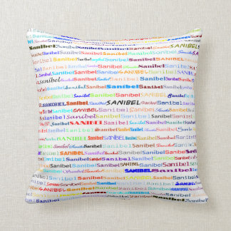 Sanibel Text Design II Throw Pillow