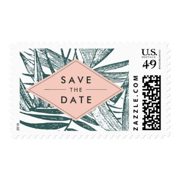 Beach Themed Sanibel | Tropical Botanical Save the Date Postage