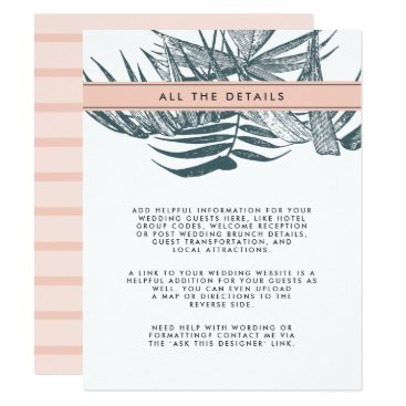 Beach Themed Sanibel | Tropical Botanical Wedding Guest Details Card