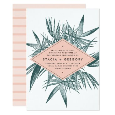 Beach Themed Sanibel | Tropical Botanical Wedding Invitation