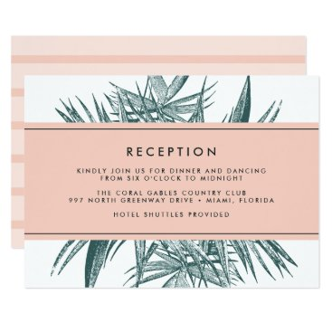 Beach Themed Sanibel | Tropical Wedding Reception Card
