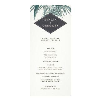 Sanibel | Vintage Tropical Wedding Program