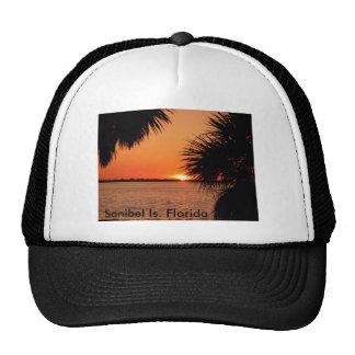 Sanibels sleeping sun trucker hat