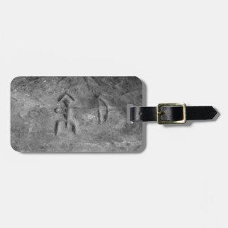 Sanilac Petroglyphs Michigan The Hunter Luggage Tag