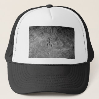 Sanilac Petroglyphs Michigan The Hunter Trucker Hat