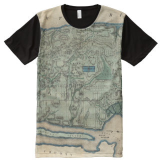 Sanitary and Topographical Map of New York City All-Over Print Shirt