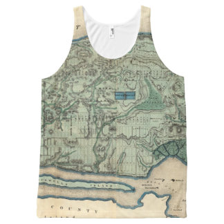 Sanitary and Topographical Map of New York City All-Over Print Tank Top
