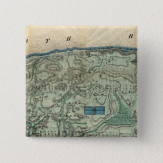 Sanitary and Topographical Map of New York City Button