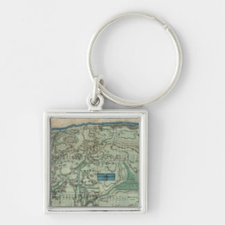 Sanitary and Topographical Map of New York City Keychain