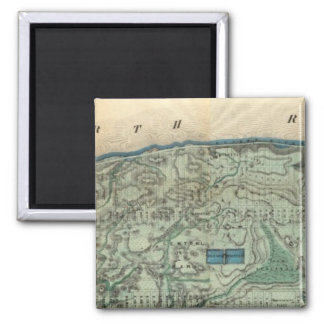 Sanitary and Topographical Map of New York City Magnet