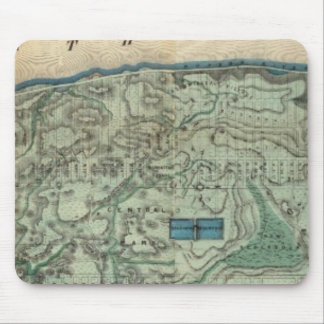 Sanitary and Topographical Map of New York City Mouse Pad
