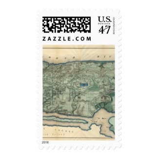 Sanitary and Topographical Map of New York City Postage