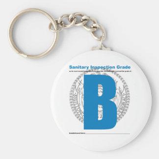 Sanitary Inspection Grade Basic Round Button Keychain