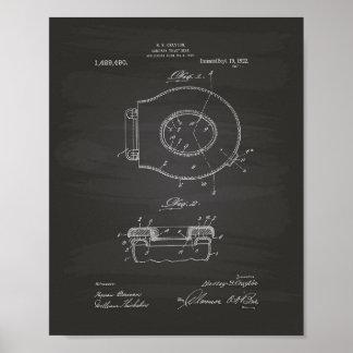 Sanitary Toilet Seat 1922 Patent Art Chalkboard Poster
