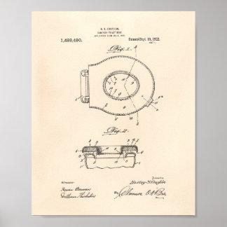 Sanitary Toilet Seat 1922 Patent Art Old Peper Poster
