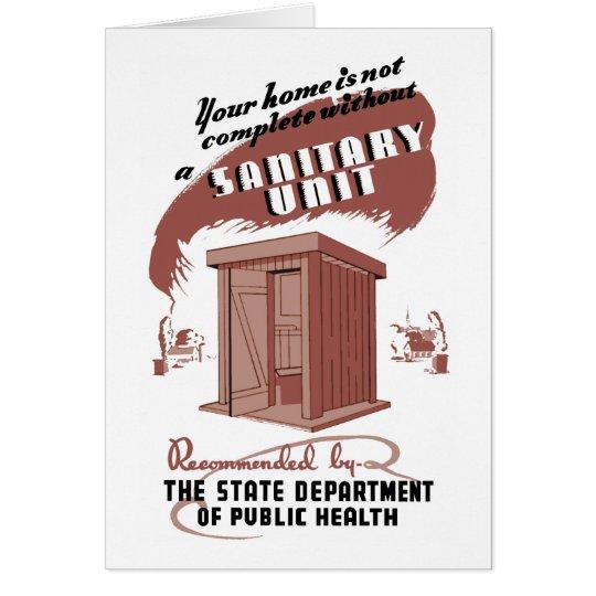 Sanitary Unit Card