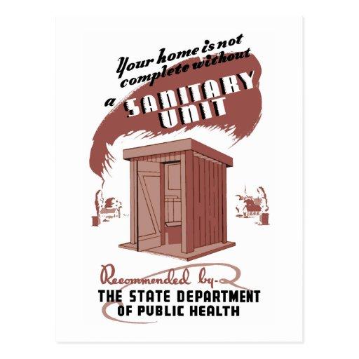 Sanitary Unit Postcard